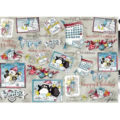 Esprimo decoupage papír - karácsonyi képregény