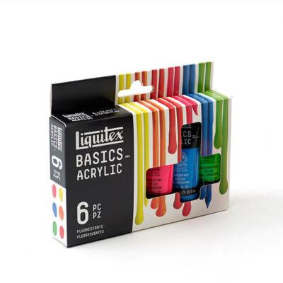 Liquitex Basics akrilfesték készlet - 6x22 ml, fluoreszkáló színek
