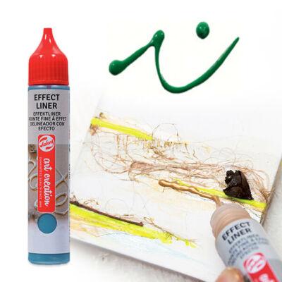 Art Creation Effect Liner, univerzális 3D festéktoll, 28 ml - 6003 Brilliant green