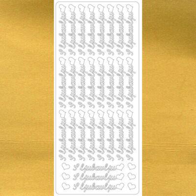 Kontúrmatrica - sok szeretettel, horvát, arany, 4544 - AKCIÓS