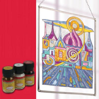 Hobbyművész terpentines üvegfesték, 30 ml - 464 piros