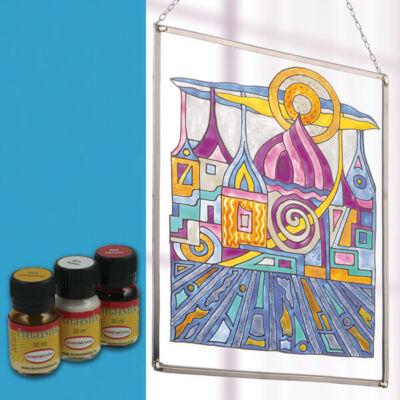 Hobbyművész terpentines üvegfesték, 30 ml - 468 azúrkék