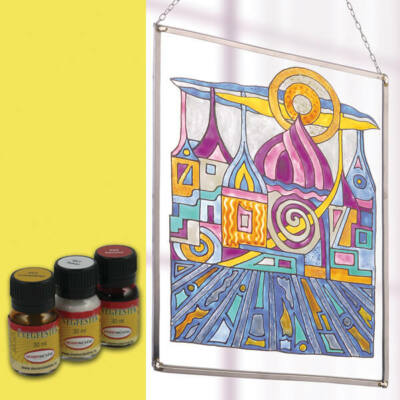 Hobbyművész terpentines üvegfesték, 30 ml - 475 citromsárga