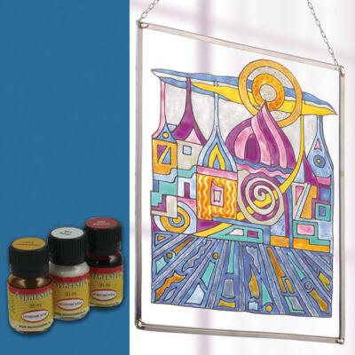 Hobbyművész terpentines üvegfesték, 30 ml - 478 sötétkék
