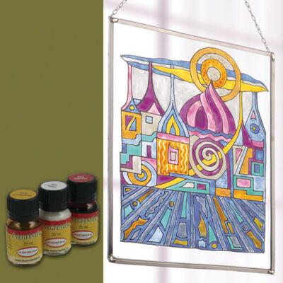 Hobbyművész terpentines üvegfesték, 30 ml - 482 olívzöld