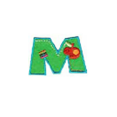 Textil betű, vasalható - M, színes