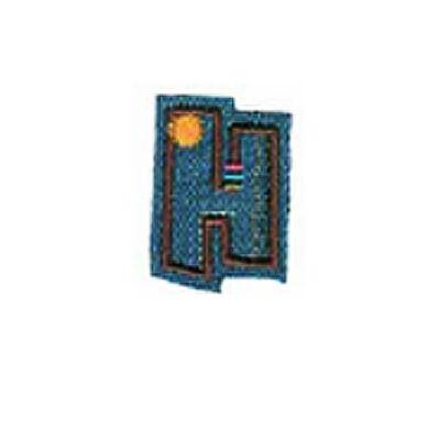 Textil betű, vasalható - H, farmer