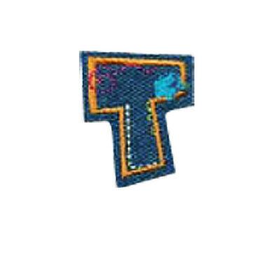 Textil betű, vasalható - T, farmer