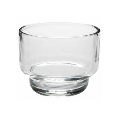 Üveg mécsestartó, gyertyatartó - lépcsős pohár - 6,5x5 cm