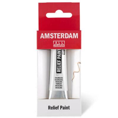 Amsterdam Relief Paint kontúrfesték, nem kiégethető, 20 ml - színtelen, 120