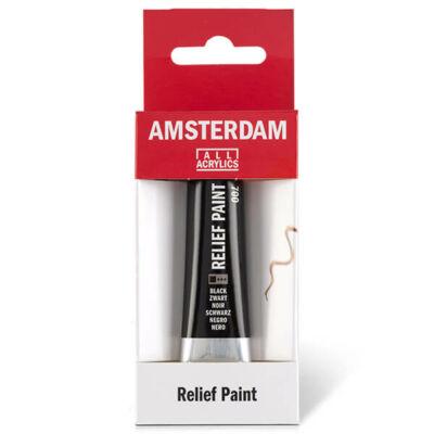 Amsterdam Relief Paint kontúrfesték, nem kiégethető, 20 ml - fekete, 700
