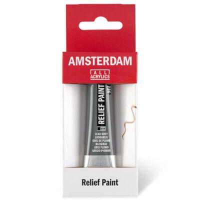 Amsterdam Relief Paint kontúrfesték, nem kiégethető, 20 ml - szürke, 736