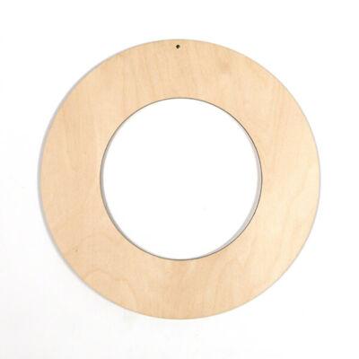Fafigura, akasztható - Koszorú alap, óriás, 19 cm