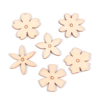 Fafigura csomagban - Virág sorozat, 6 db