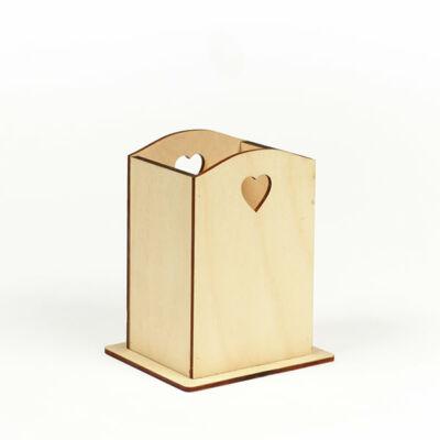Fa fakanáltartó - szíves