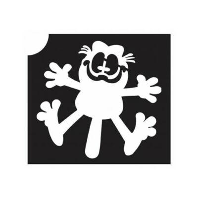 Tetováló sablon, öntapadós stencil - Cica 8 Garfield