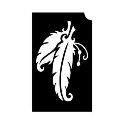 Tetováló sablon, öntapadós stencil - Madártoll 2