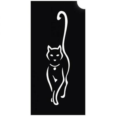 Tetováló sablon, öntapadós stencil - Cica 2