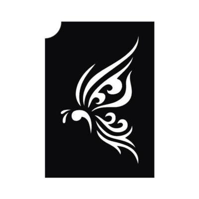 Tetováló sablon, öntapadós stencil - Pillangó 3