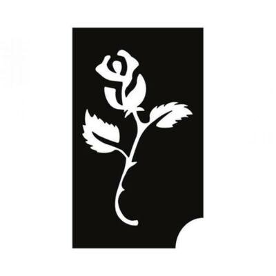 Tetováló sablon, öntapadós stencil - Virág 14