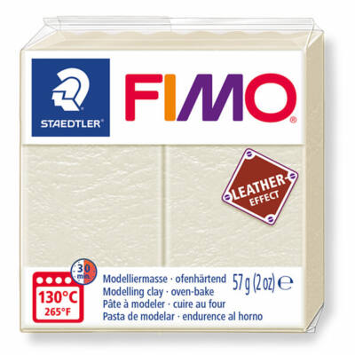 FIMO Leather Effect süthető gyurma, 57 g - elefántcsont (8010-029)