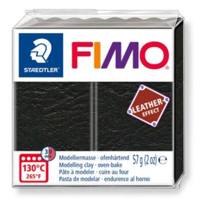 FIMO Leather Effect süthető gyurma, 57 g - fekete (8010-909)