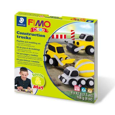 FIMO Kids süthető gyurma készlet, Form & Play - 4x42 g - munkagépek