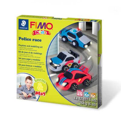 FIMO Kids süthető gyurma készlet, Form & Play - 4x42 g - verseny