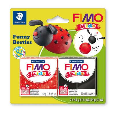 FIMO Kids süthető gyurma készlet, 2x42 g - Funny beetles, vicces katica