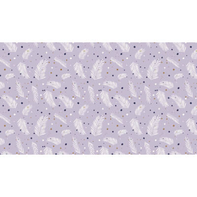 Patchwork anyag - Makower - Forest Talk 8491/GP Pine Dots