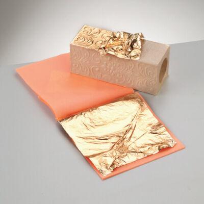 Manetti metállap, aranyfüst, 16x16 cm - arany imitáció, C2,5; 100 lap
