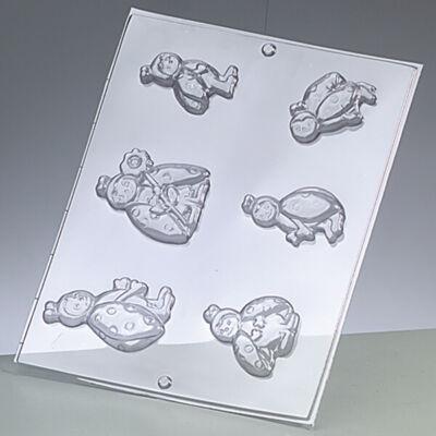 Öntőforma - katicák, 6 részes, 5,5-7 cm