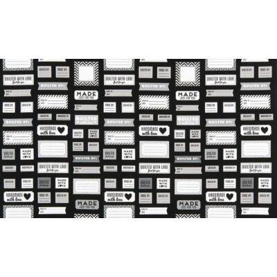 Akció! Patchwork anyag - Robert Kaufman - Made For You AAK-15817-2 Black Panel, 60cm