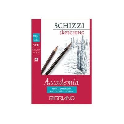 Fabriano Accademia rajz- és vázlattömb, 120 g, 50 lap - A5, ragasztott