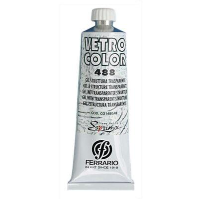 Ferrario Vetro Color struktúrzselé üvegfestéshez, 60 ml - átlátszó