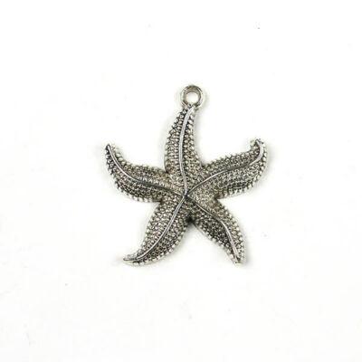 Charm, fémdísz - tengeri csillag