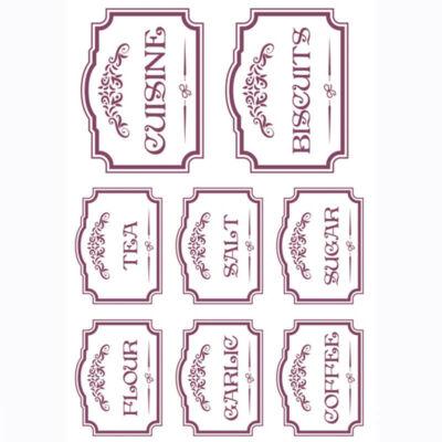 Rizspapír - konyhai feliratok, angol