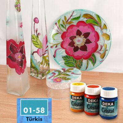 Deka Color Cristal üvegfesték 25 ml - 58 türkiz