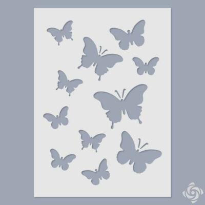 Stencil, 15x20 cm - Pillangók