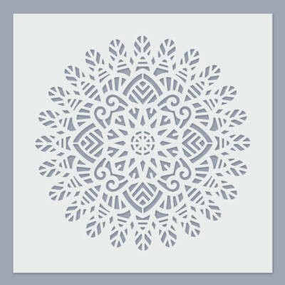 Stencil, 24,5x24,5 cm - Mandala 02