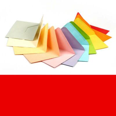 Boríték, C6, 11x16 cm - színes, intensive red, 80 g
