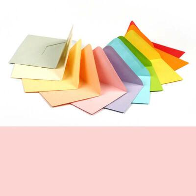 Boríték, C6, 11x16 cm - színes, light pink, 80 g