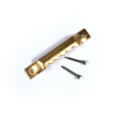 Képakasztó, réz - fogazott, 4 cm