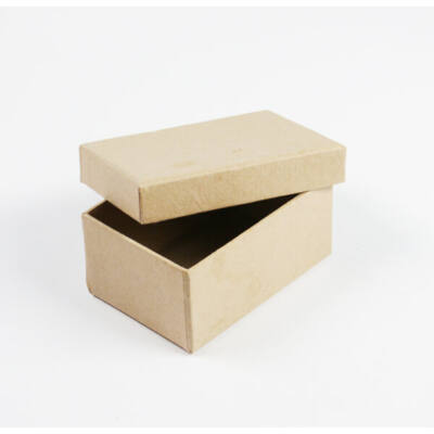 Papírmasé doboz, tégla - 8,5x6x4 cm, kis doboz