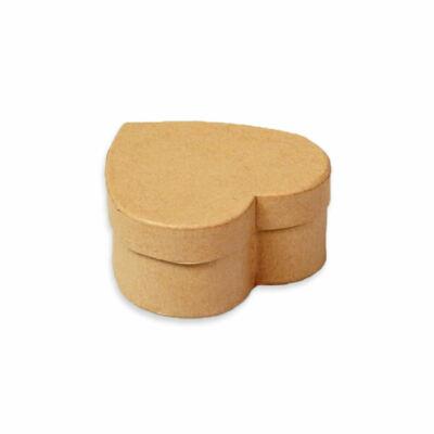 Papírmasé doboz, szív - 9 cm, kis doboz