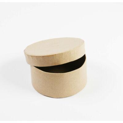 Papírmasé doboz, kör - 8 cm, kis doboz