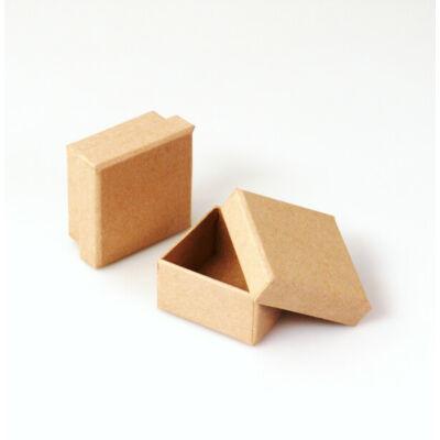 Papírmasé doboz, négyzet - 5x5x2,5 cm, pici doboz
