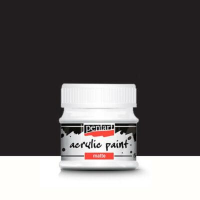 Pentart matt akrilfesték, 50 ml - fekete
