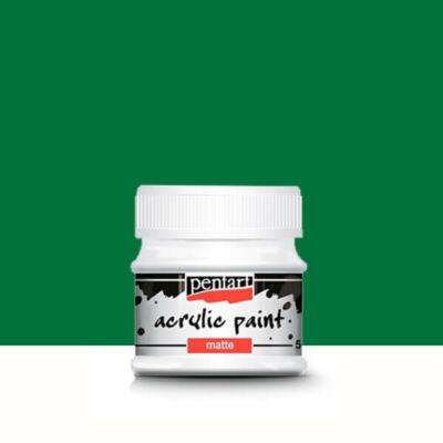 Pentart matt akrilfesték, 50 ml - zöld