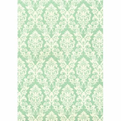 Tassotti decoupage papír - brokát, akvamarin